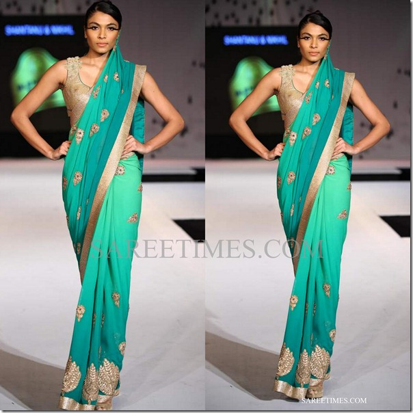 shantanu nikhil_green_saree