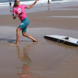 En longboard Justine Dupont