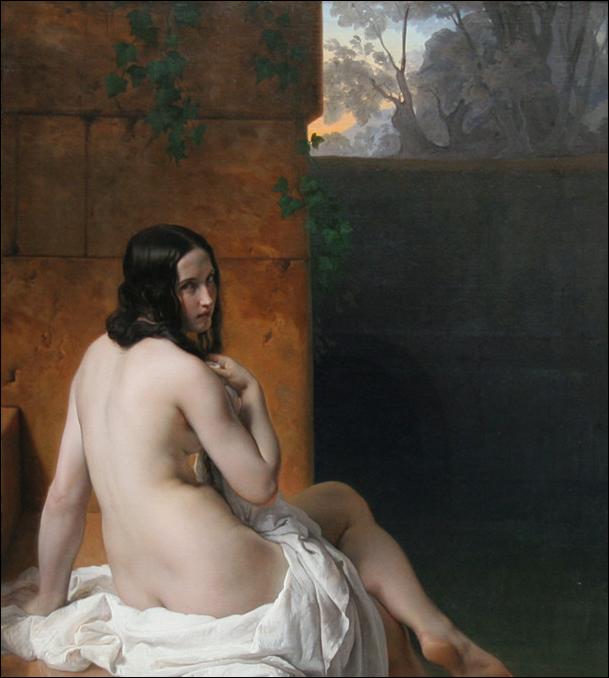 Hayez,Suzanne au bain