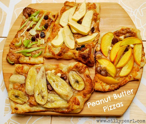 Peanut Butter Pizzas Multiples in the Kitchen
