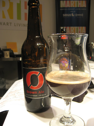 Nøgne Ø is a Norwegian brown ale with notes of coffee, smoke, caramel, and cocoa.  It'd taste great with anything involving duck, spicy chili, or wings.