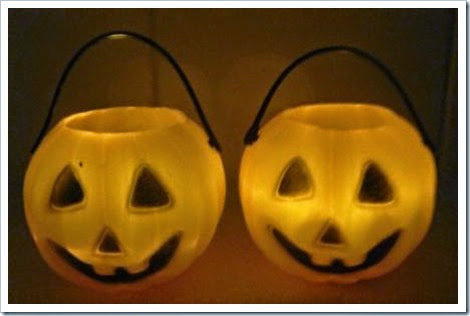 Mini pumpkin pots Halloween