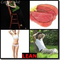 LEAN- 4 Pics 1 Word Answers 3 Letters