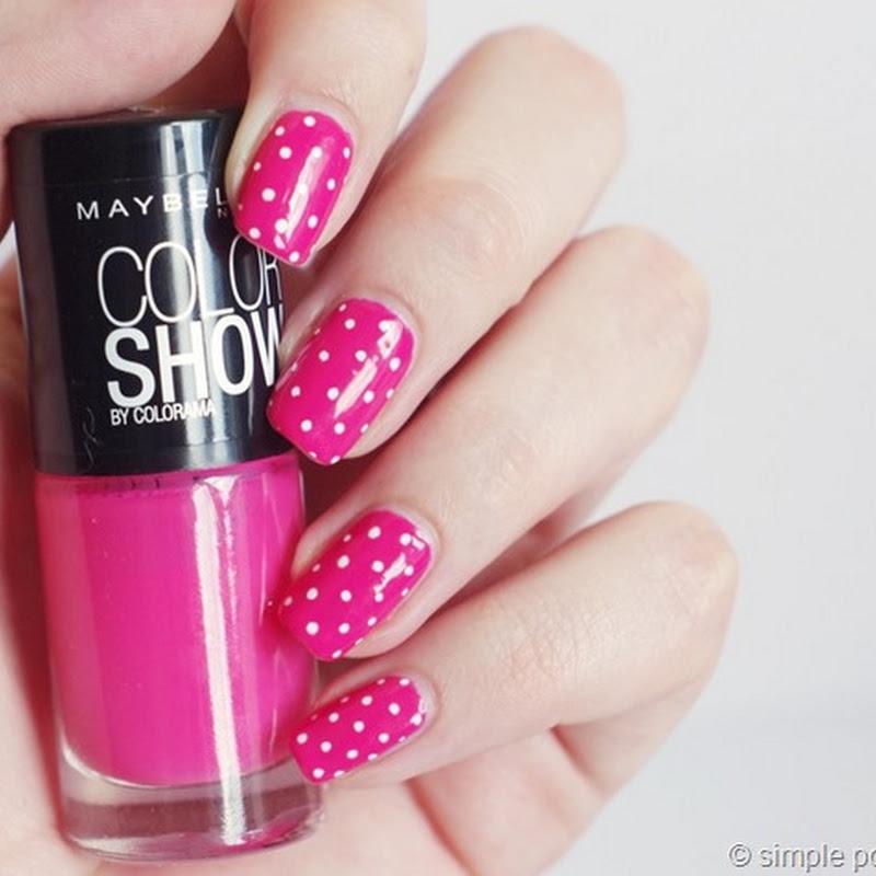 [Nail Art] Polka Dots auf  Pink