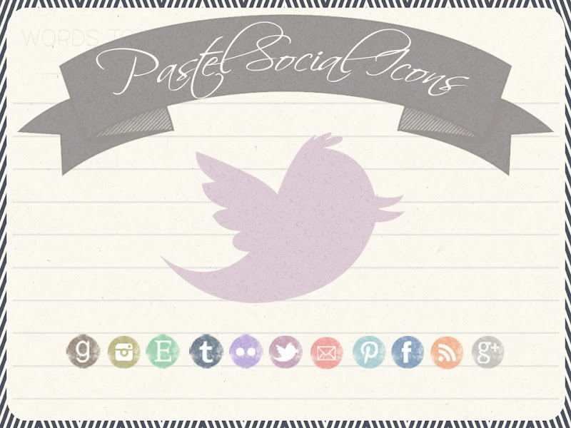 updated free pastel social icons