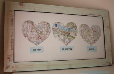 quadro mapas quarto