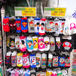 socks souvenirs in Harajuku in Harajuku, Tokyo, Japan