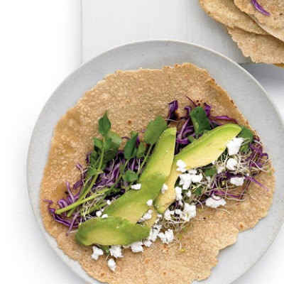 Avocado, Feta, and Cabbage Wrap