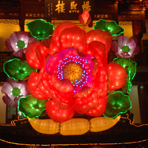 Shanghai Fête des Lanternes 2012 - Fleur géante