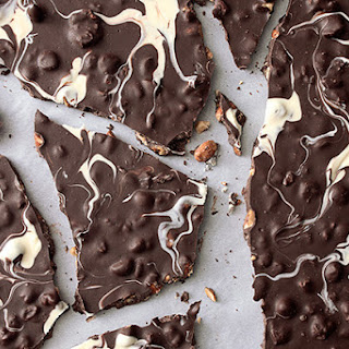 Ghostly Chocolate-Nut Bark