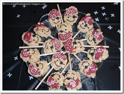 Pirate Rice Krispy Treats
