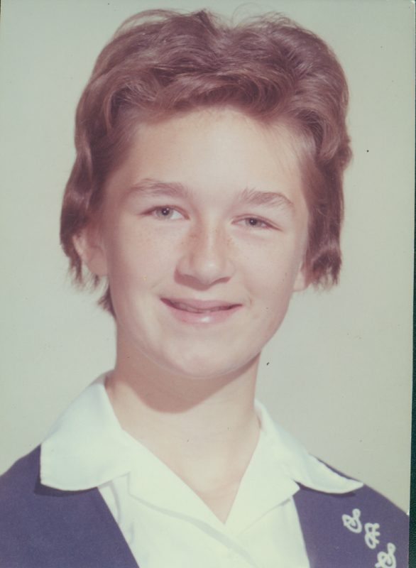 Lynn Edward Harris in the sixth grade. 1961.