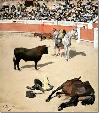 ramon casas i carbo_Escena taurina 1886