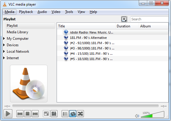 shoutcast-in-vlc