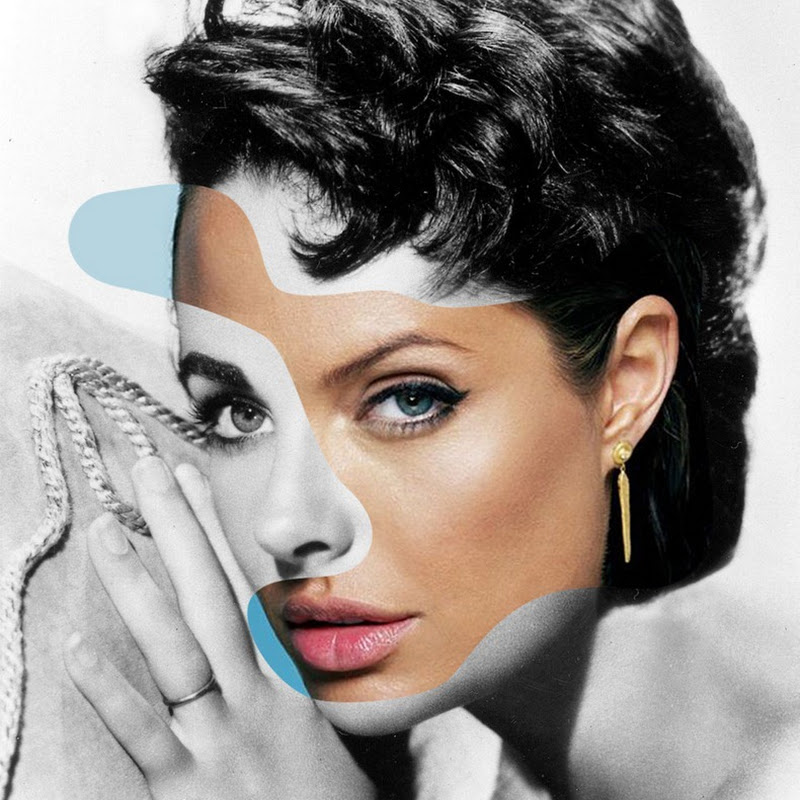 Iconatomy: Collage of Celebrity Icons From Two Eras