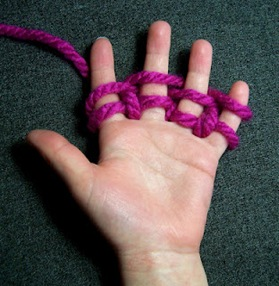 Finger knitting tutorial