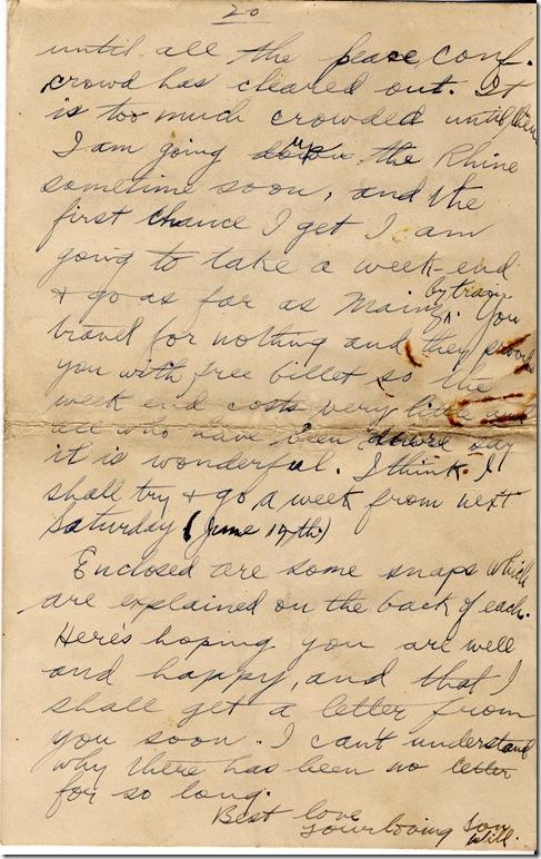 1 June 1919 20