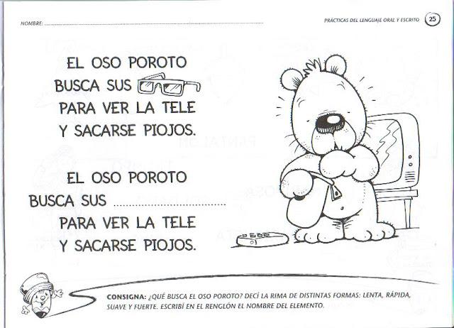 Rimas Con Dibujos Para Niños De Preescolar picture gallery