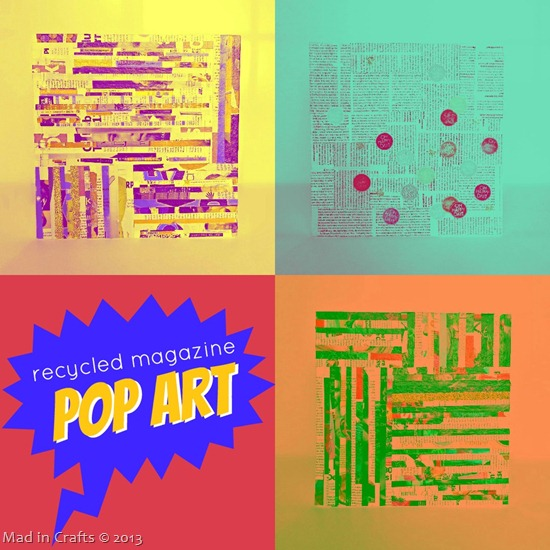 Recycled Magazine Pop Art