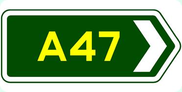 A47 sign