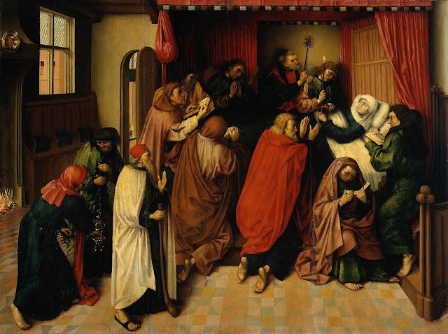 Maestro de la Muerte de la Virgen -  El lecho de muerte de María.jpg