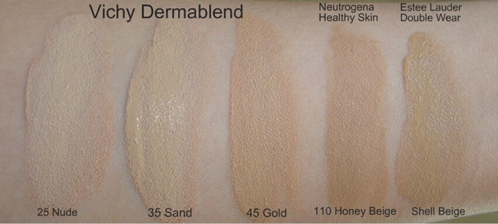 vichy dermablend swatch