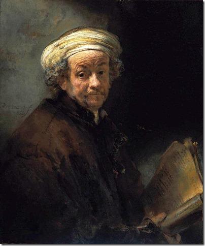 rembrandt - autoportret jako św. paweł apostoł (1661)