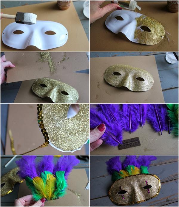DIY Mardi Gras Mask #diy #mardigras #halloween