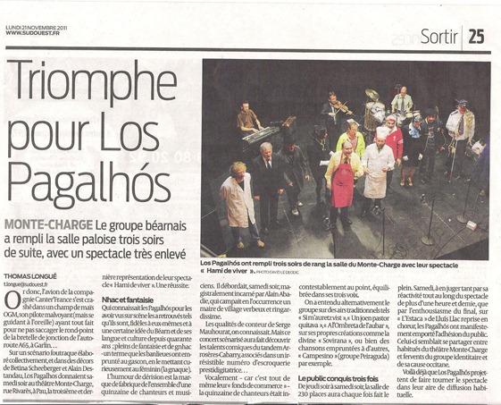 Los Pagalhós a Pau en espectacle 2011