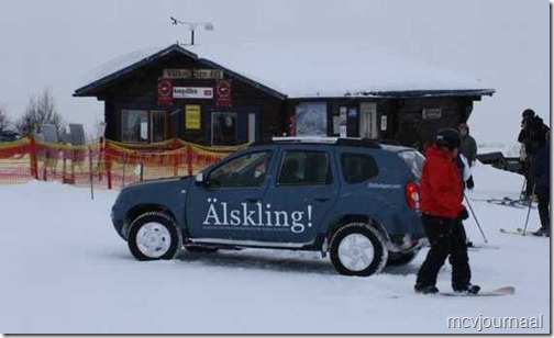 Dacia Duster in de winter 02