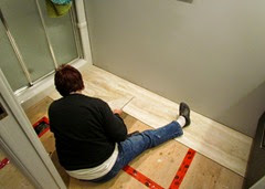 1410248 Oct 30 Barb Lays Bathroom Floor Tile