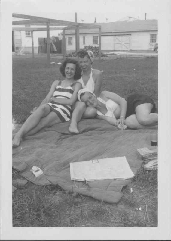 Esther Herbert and friends enjoying a break from the Women's Army Corps. Circa 1944-1945.