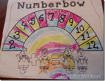 Numberbow, addition practice, math games