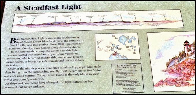 04e - Bass Harbor Rt 102 - Lighthouse Information Sign