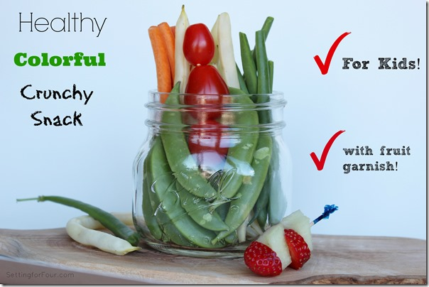 Healthy Snack Idea for Kids www.settingforfour