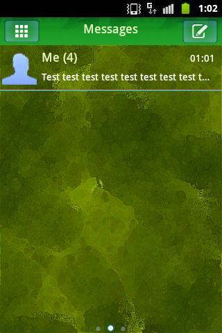 短信主題綠色自然 GO SMS Theme Green