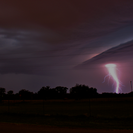 Kansas Lightning Tornado by Robert D Brozek - Landscapes Weather (  )