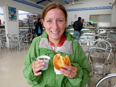 How to keep warm in the Andes: tinto and pan de queso!