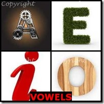 VOWELS- 4 Pics 1 Word Answers 3 Letters