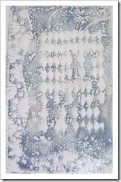 gelli printed papers blue green stencil
