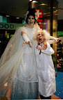 Bride of Frankenstein on stilts