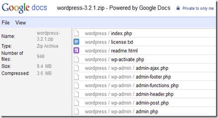 google docs zip file view