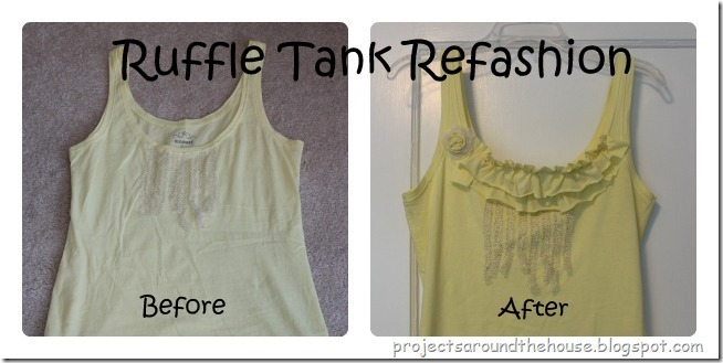 ruffle tank refashion