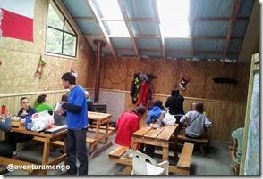 Área de apoio ao campingo em Los Cuernos