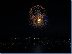 8265 Ontario Kenora Best Western Lakeside Inn on Lake of the Woods - Canada Day fireworks from our room
