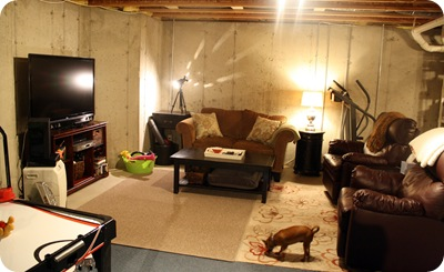 Unfinished basement design