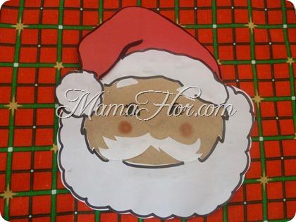 Un Papá Noel de decoración en Navidad