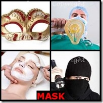 MASK- 4 Pics 1 Word Answers 3 Letters