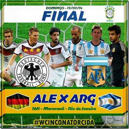 WCINCO - FINAIS - DOMINGO - ALEMANHA - ARGENTINA