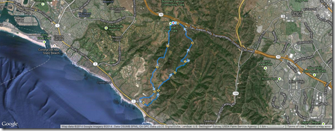 Running No Name, No Dogs, Morro Cyn, Nice & Easy, Fenceline, Bommer Ridge 1-18-2014